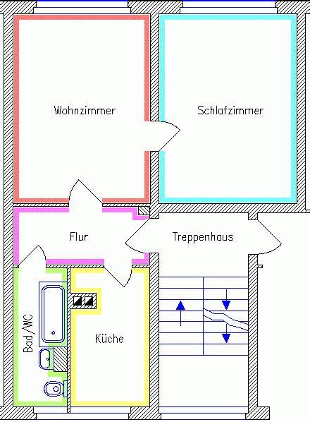 M 246 Blierte 2 Raum Wohnung In Chemnitz