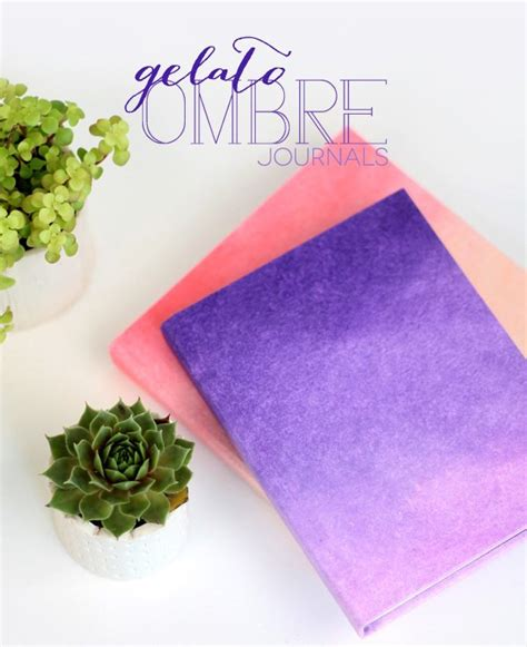 How To Make Ombre Paper - diy ombre journals damask