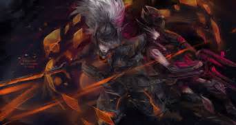 lol project yasuo and headhunter caitlyn by fiveonthe on