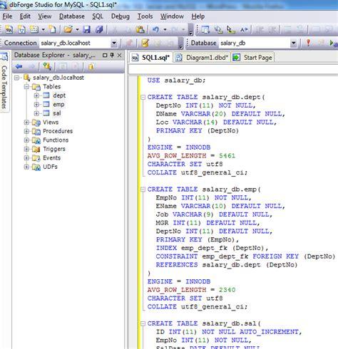 design database schema tool image gallery script database