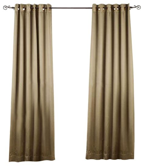 Olive Green Curtains Drapes Olive Green Ring Grommet Top 90 Blackout Curtain Drape Panel 50 Quot X84l Traditional