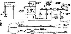 how to wire alternator starter from engine wiring harnes