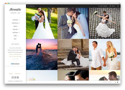 Best Wedding Photography Websites by 20 Best Themes For Photographers 2017 Colorlib