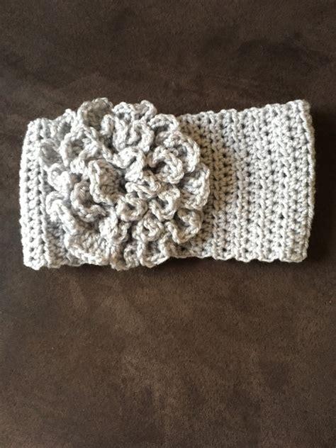 crochet pattern flower headband crochet headband with flower free pattern video