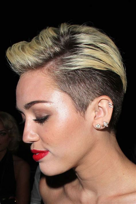 how to style miley cyrus hairstyle miley cyrus straight golden blonde two tone undercut