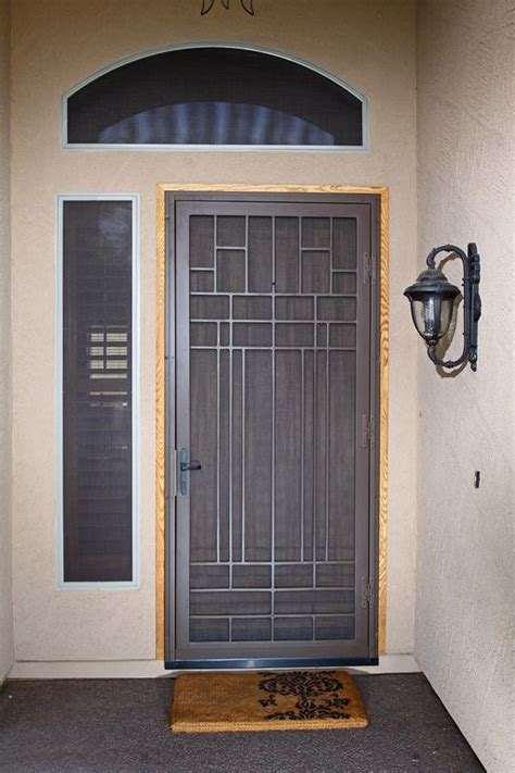 Security Front Doors For Homes 25 Best Ideas About Security Door On Front Door Locks Steel Security Doors And