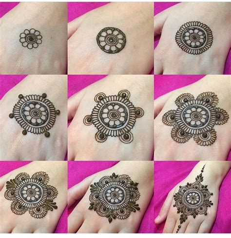 step by step henna design henna tattoos pinterest