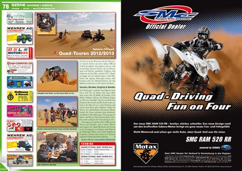 Motorradzentrum Hamburg Vermietung by Atv Quad Magazin 2012 04 Atv Quad Magazin