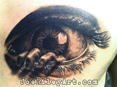 eyeball tattoo by joe riley tattoonow
