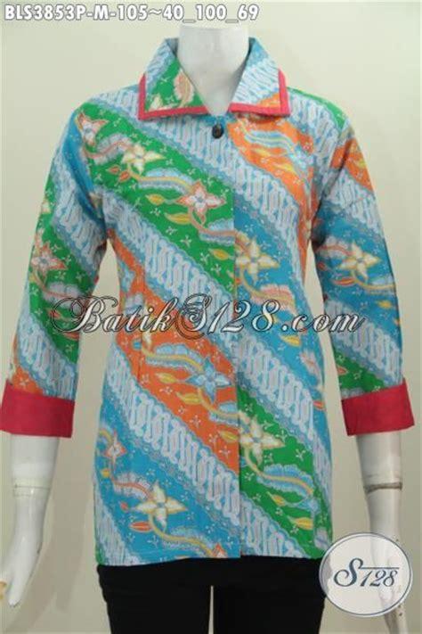 Kain Batik Print Modern Parang Bunga baju wanita muda terkini berbahan batik printing motif