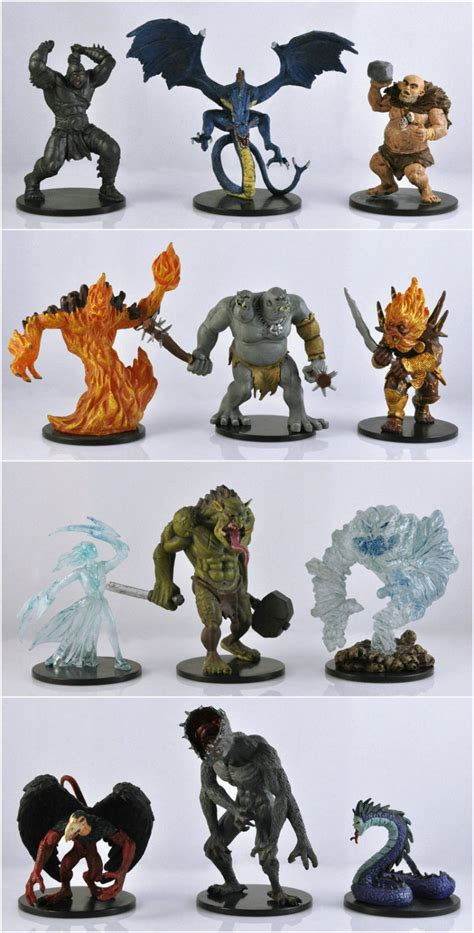 d d figures toys free shipping 5pcs set used 5 dungeons dragons miniatures