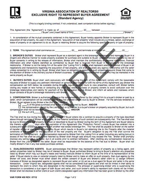 Buyer Broker Agreement Charlottesville Blog Exclusive Brokerage Agreement Template