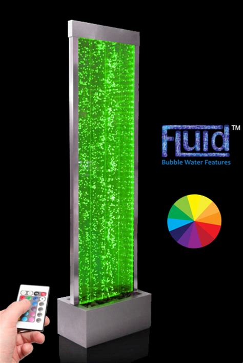 ft cm bubble water wall  colour changing led