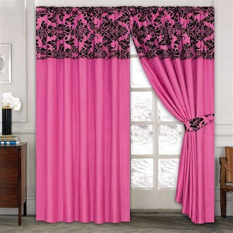 listers curtains luxury damask curtains pair of half flock pencil pleat