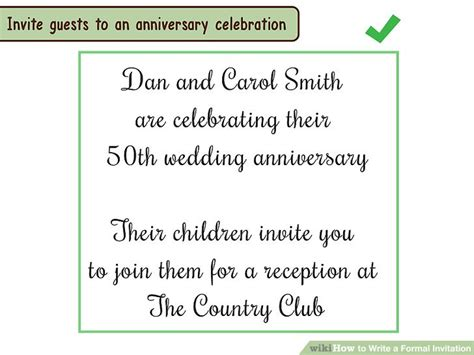 how to write wedding invitation message 4 ways to write a formal invitation wikihow
