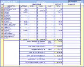 building material estimation