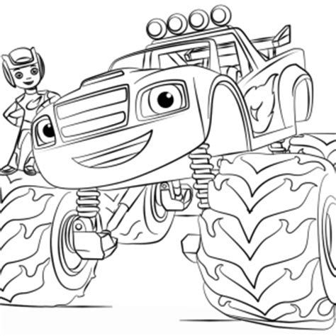 blaze monster trucks coloring pages images of monster jam coloring pages cartoon monster