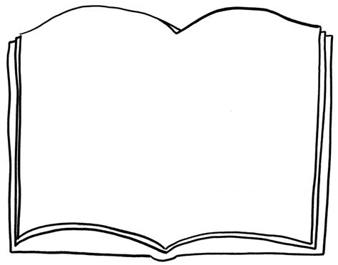 Free Open Book Coloring Pages Book Colouring Page