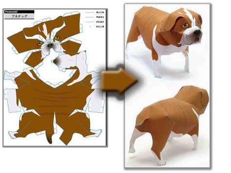 объемная поделка собака из бумаги как сделать на новый