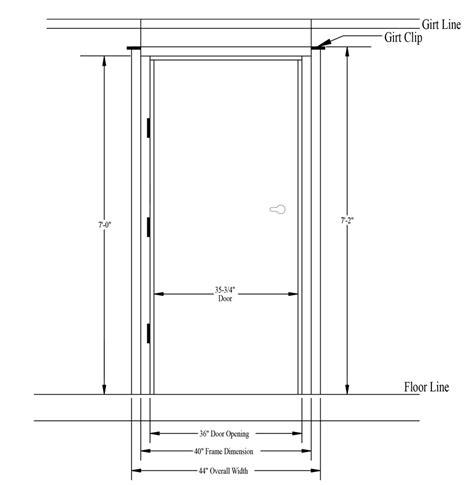 Commercial Overhead Door Sizes Commercial Door Size Diagram Wiring Diagram With Description