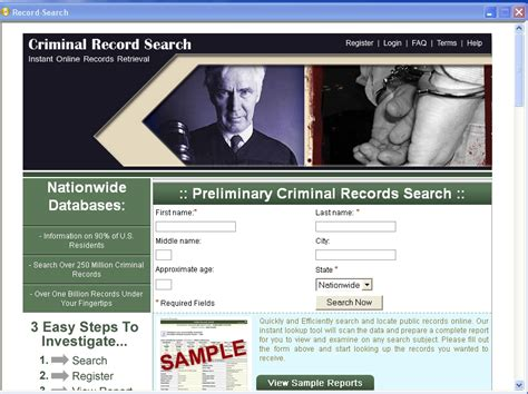 Free Search Criminal Records Free Criminal Records