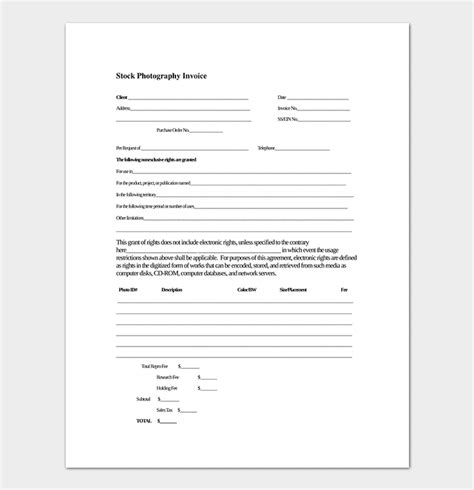 stock receipt template photography receipt template 17 for word excel pdf