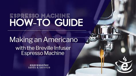 make an americano on rancilio silvia espresso machine from making an americano with the breville infuser