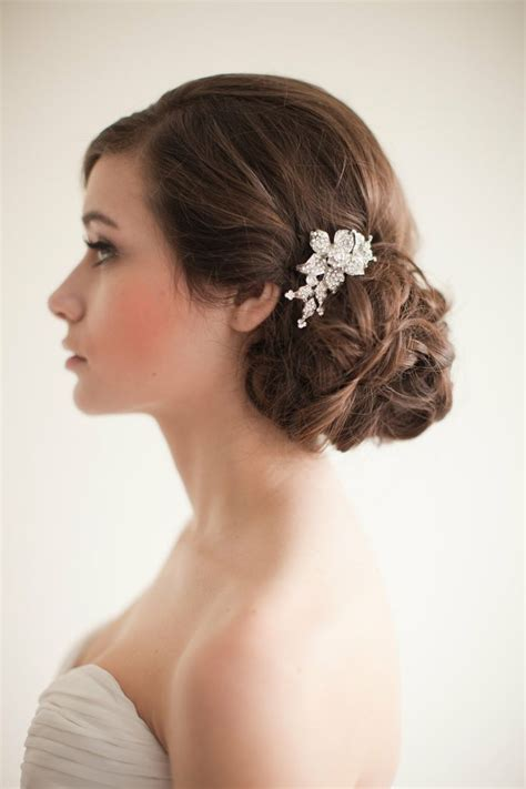 1000  ideas about Bridal Chignon on Pinterest   Chignon