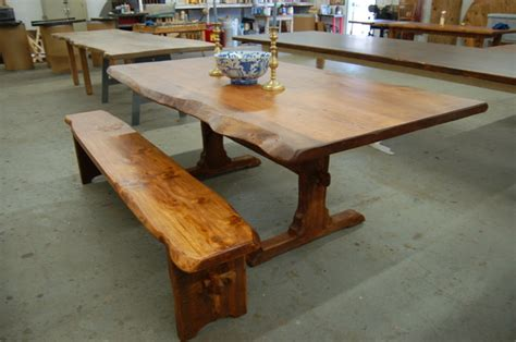 Live Edge Kitchen Table Live Edge Farm Tables Contemporary Dining Tables Providence By Lorimer Workshop