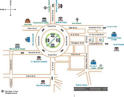 simple map thrissur kerala india city map