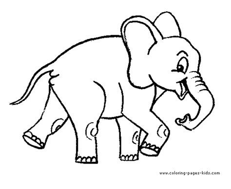 elephant 94 animals printable coloring pages happy walking elephant color