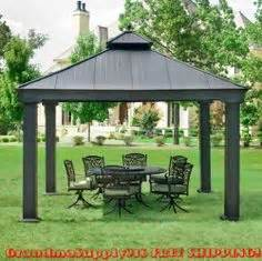 Sunjoy 13 Ft Royal Octagon Hardtop Gazebo by Sunjoy Summerville 10 Ft X 12 Ft Aluminum Hardtop Gazebo