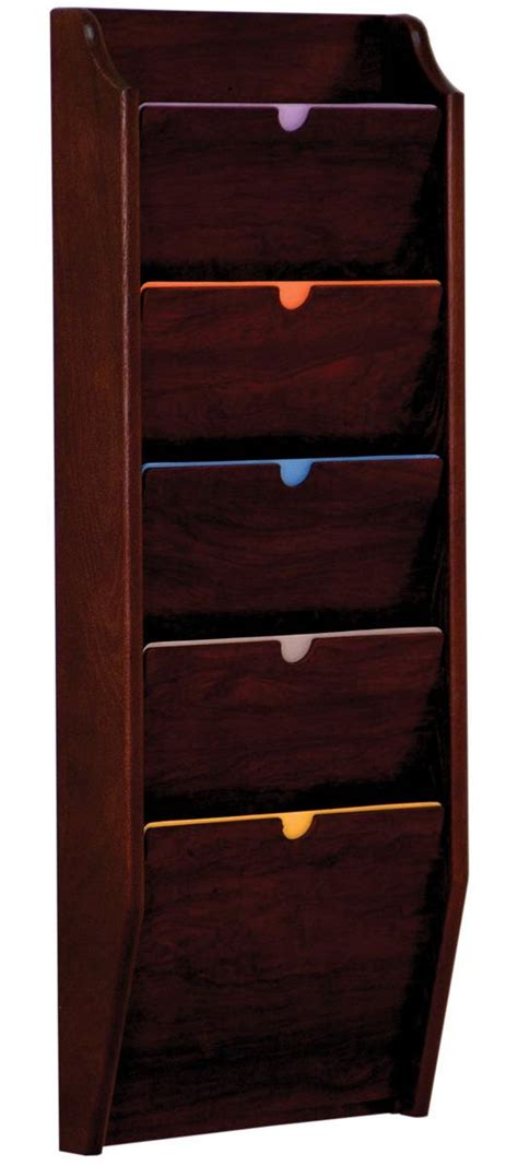 Folder Wall Rack by Wood Privacy Chart Holder Tiered File Folder Rack For Wall