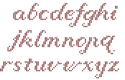lettere a punto croce in corsivo schema punto croce alfabeto corsivo maiuscolo fare di