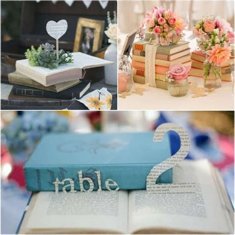 libro how they decorated inspiration wedding decor inspiration antique book centerpieces yes missy a lifestyle blog