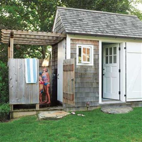 shed with bathroom outdoor shower sensational outdoor retreats this old house