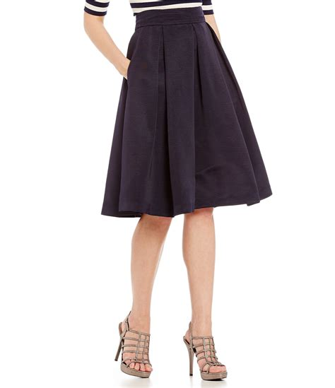 eliza j flared midi skirt dillards