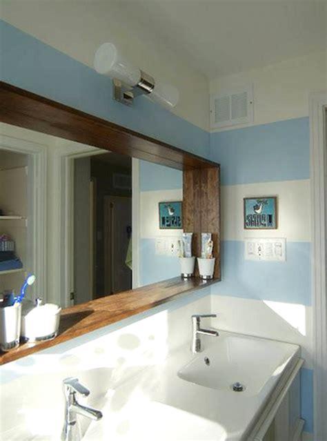 specchi per bagno con cornice specchio da bagno con cornice in legno l150 h80 cm