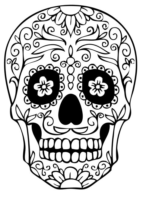 skull color sugar skull coloring pages best coloring pages for
