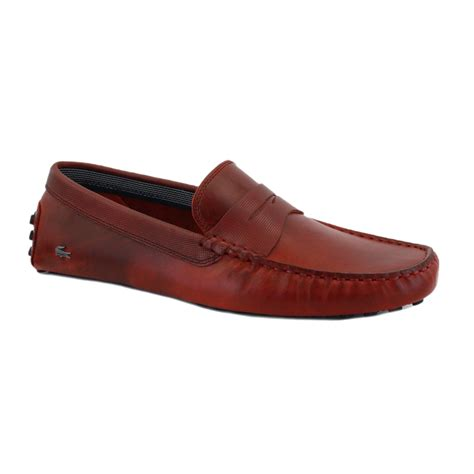 mens burgundy sneakers lacoste concours 9 mens slip on leather mocassins shoes