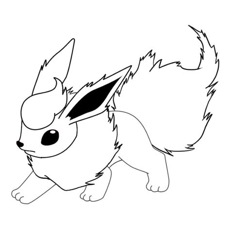 pokemon coloring pages flareon flareon coloring pages grig3 org