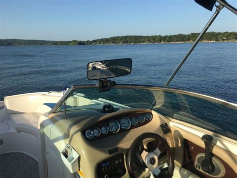boat windshield mirror cipa comp ii rearview boat mirror convex windshield