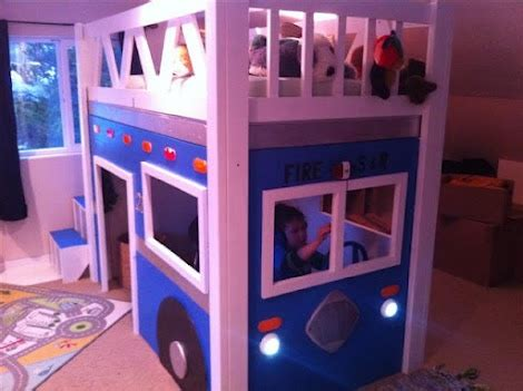 fire truck loft bed fire truck loft bed w plans diy home pinterest