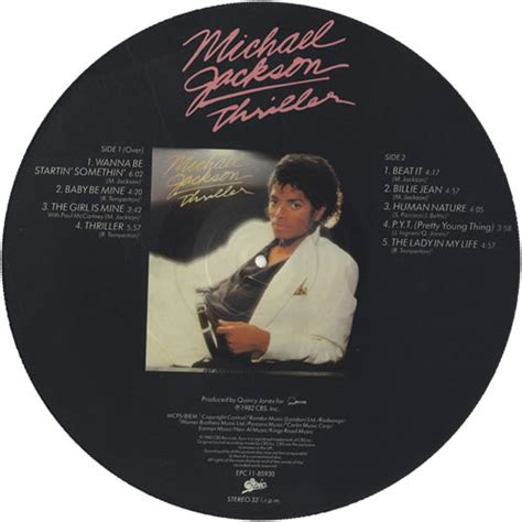 michael jackson thriller album biography michael jackson thriller uk picture disc lp vinyl picture