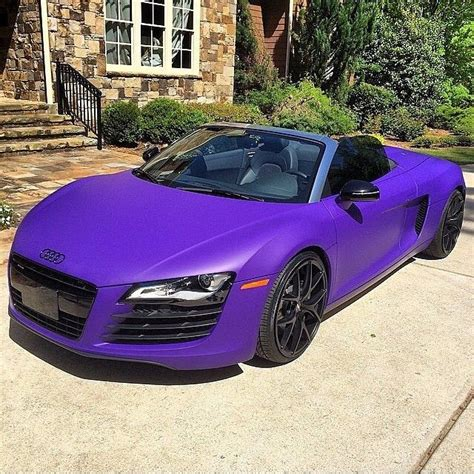 Purple Audi R8 by Audi R8 In Matte Purple If I Am Lucky Enough To