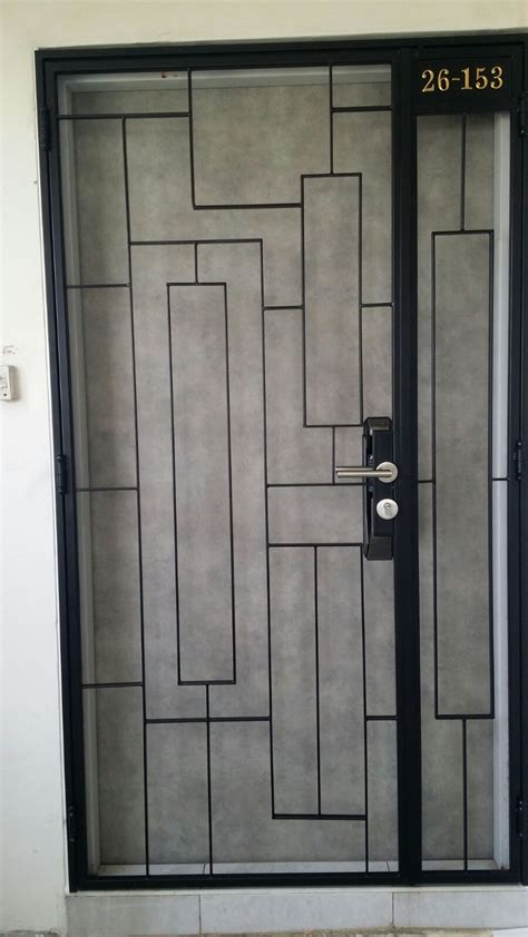 metal door designs latest design of hdb bto mild steel gate 3x7feet gate 680