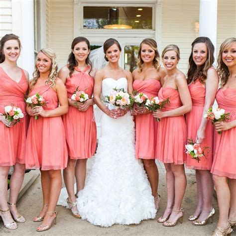 Of coral bridesmaid dresses collection 2015 fashion wedding trends