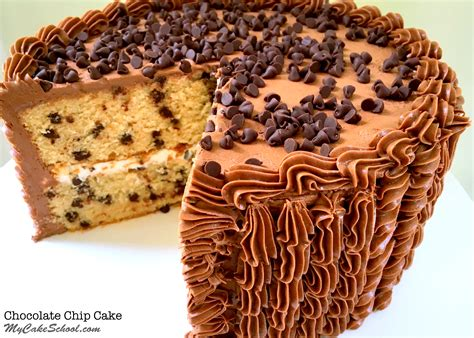 best chocolate chip recipes chocolate chip cake recipe my cake school