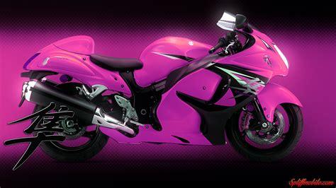 pink hayabusa bike wallpaper