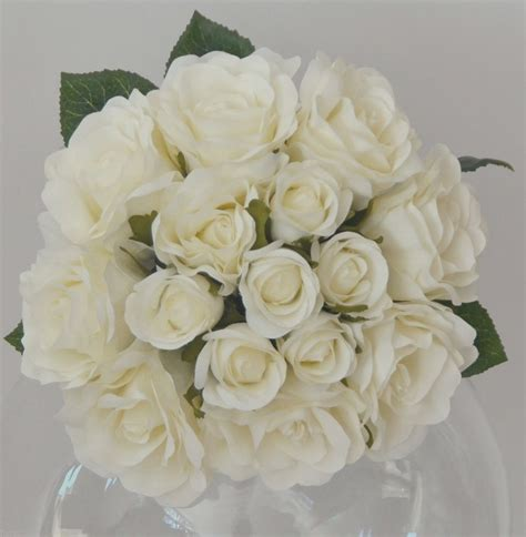 ana silk flowers pictures silk flowers white silk artificial white rose roses bunch wedding bouquet